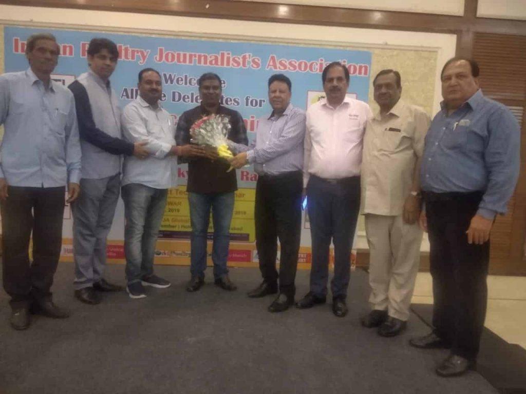 इंडियन पोल्ट्री जर्नलिस्ट एसोसिएशन के द्वारा आयोजित मूर्गीपालन विषय पर सेमिनार में आए वक्ता